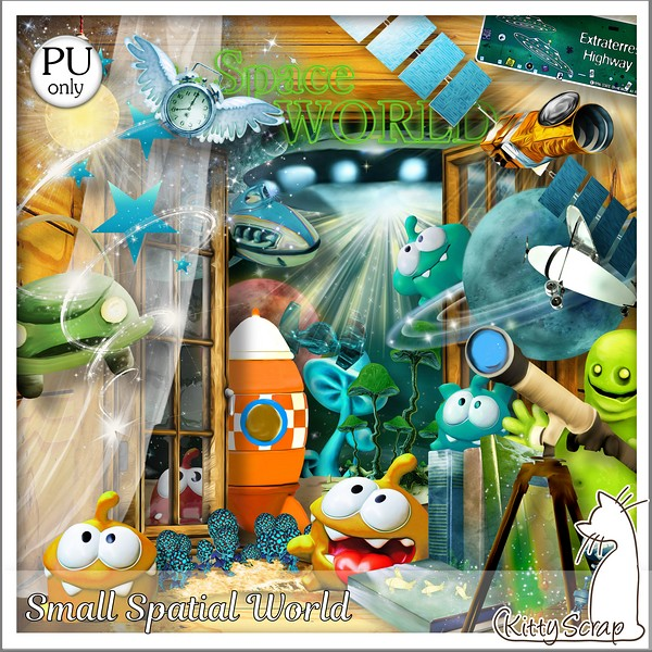 Small spatial world de Kittyscrap dans Mai kittys87