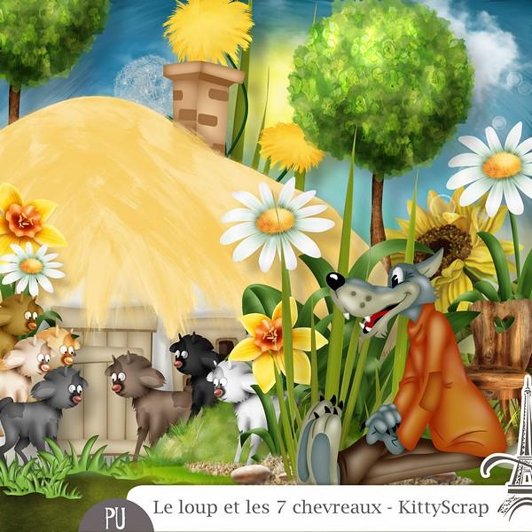 Le loup et les 7 chevreaux de Kittyscrap dans Mai previ102