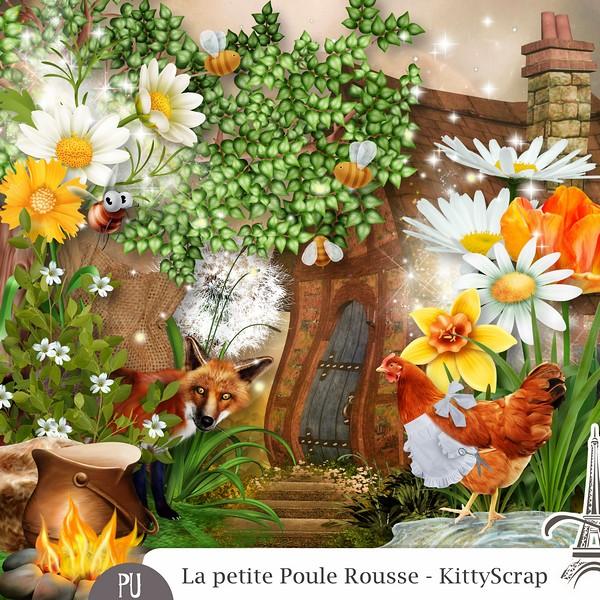 La petite poule rousse de KittyScrap dans Avril previe77