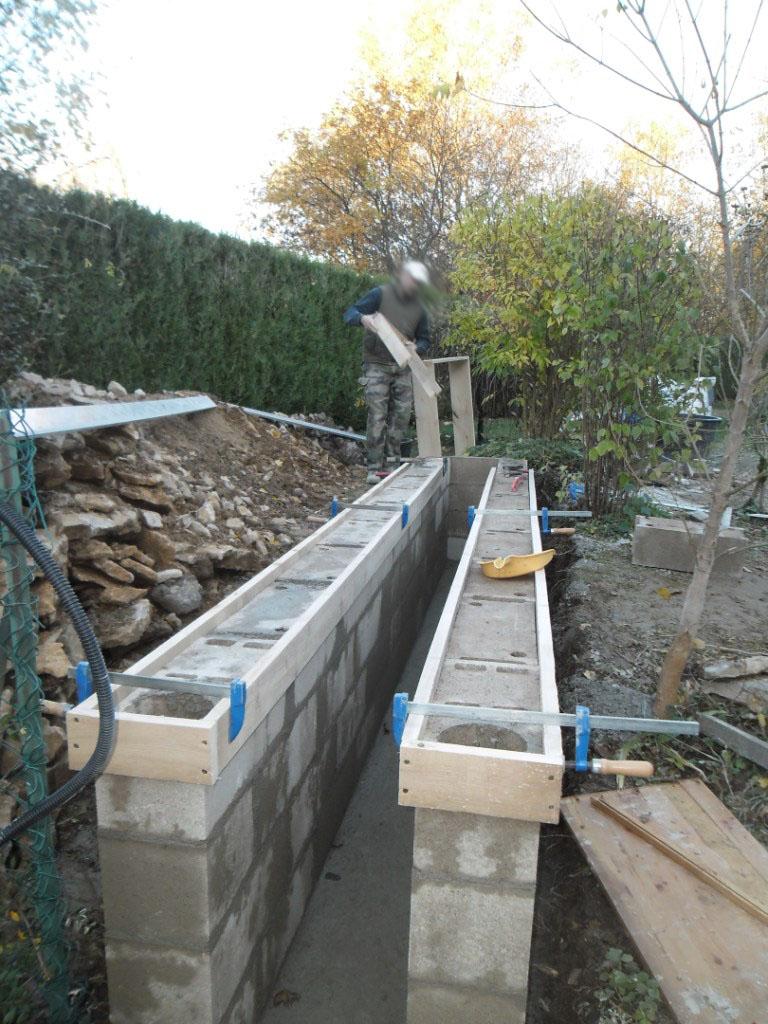 Portail realisation portail coulissant et motorisation for Lisser un mur exterieur