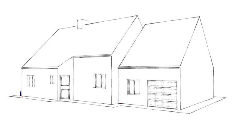 Auto construction la maison d 39 en face for Dessin facade maison