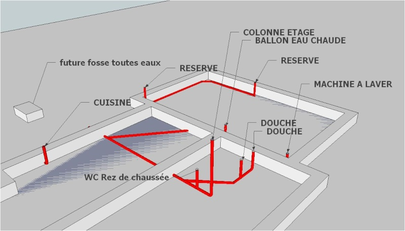 Auto construction la maison d 39 en face page 3 - Plan evacuation eaux usees maison ...