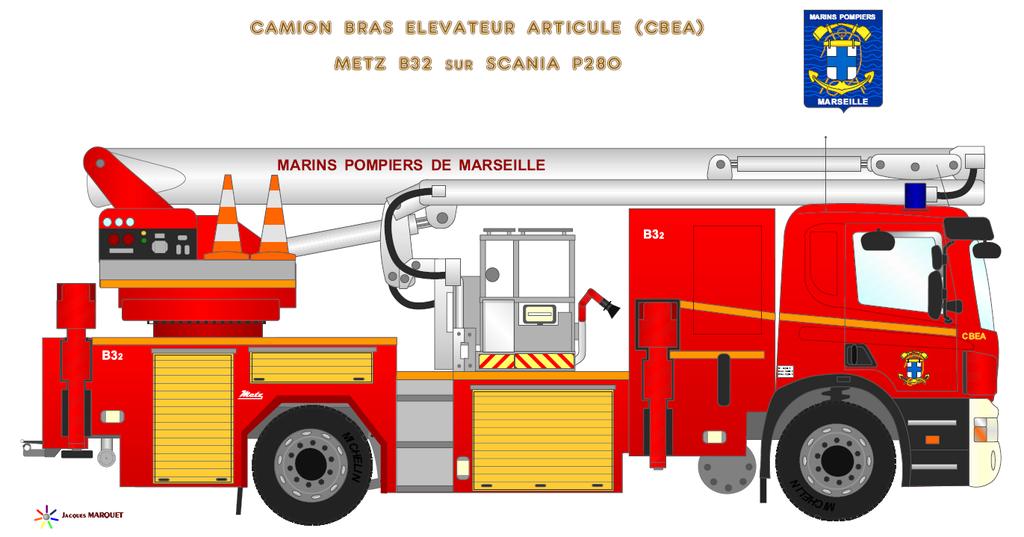 V hicules des marins pompiers - Comment dessiner un camion de pompier ...