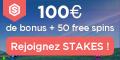 Stakes 1000€ de bonus de bienvenue