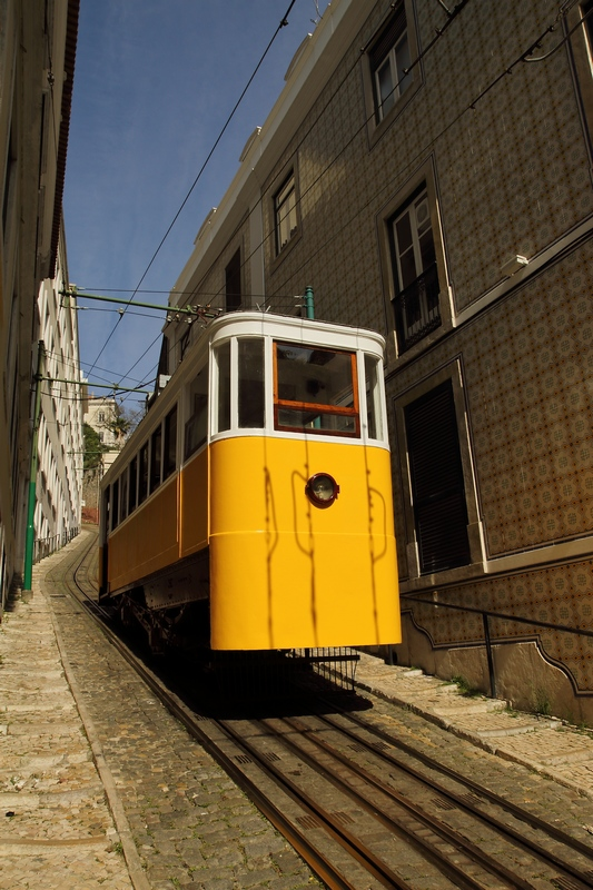 Un funiculaire de Lisbonne