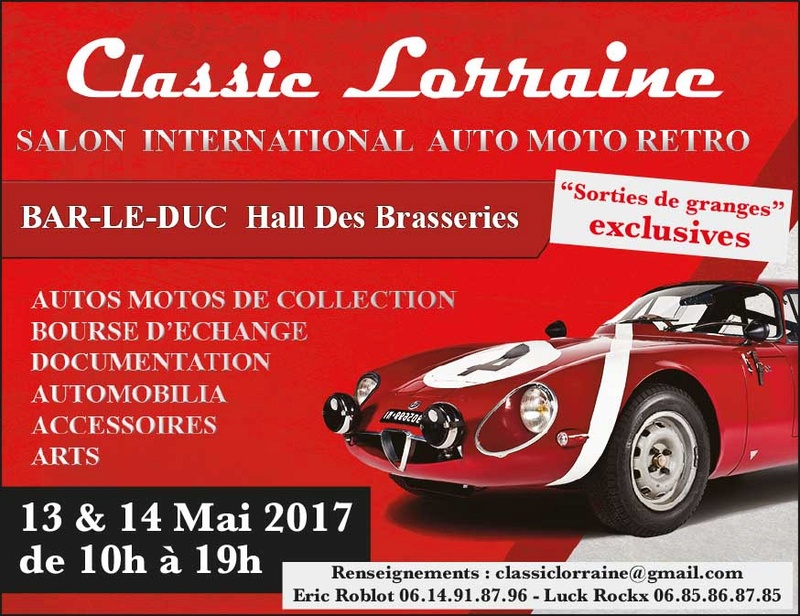 bourses, expos, rallyes, balades - mai 2017 - voitures anciennes