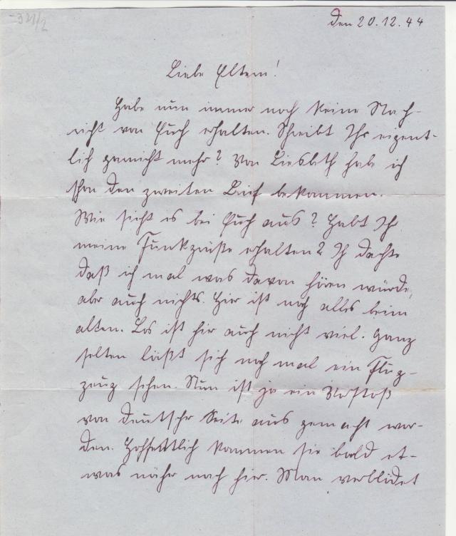 lettre de la fortersse de lorient de d cembre 1944. Black Bedroom Furniture Sets. Home Design Ideas