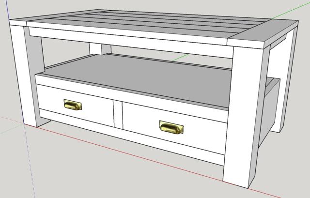 table basse en platane et noyer. Black Bedroom Furniture Sets. Home Design Ideas