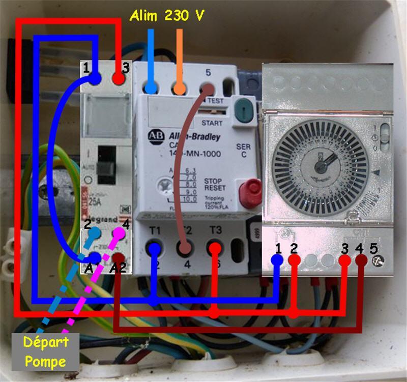 Branchement horloge flash micromat - Horloge chauffe eau ...