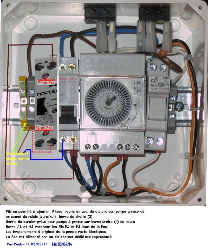 Branchement d 39 une pac poolex for Consommation electrique pompe piscine