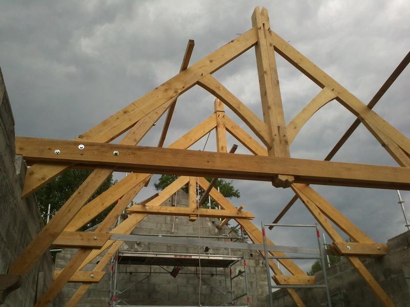 Corbeau Bois Charpente - charpente sur corbeaux metalliques en rénovation