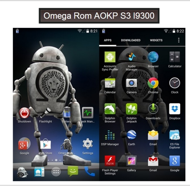Android 4.4.2 Kit Kat Omega v14 AOKP mr2 Milestone-1 Android 4