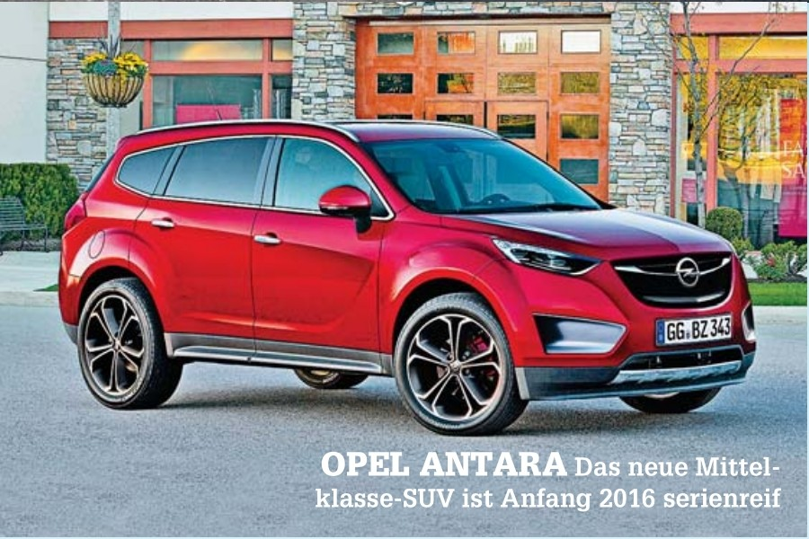 2016 opel antara suv rendered gm authority. Black Bedroom Furniture Sets. Home Design Ideas