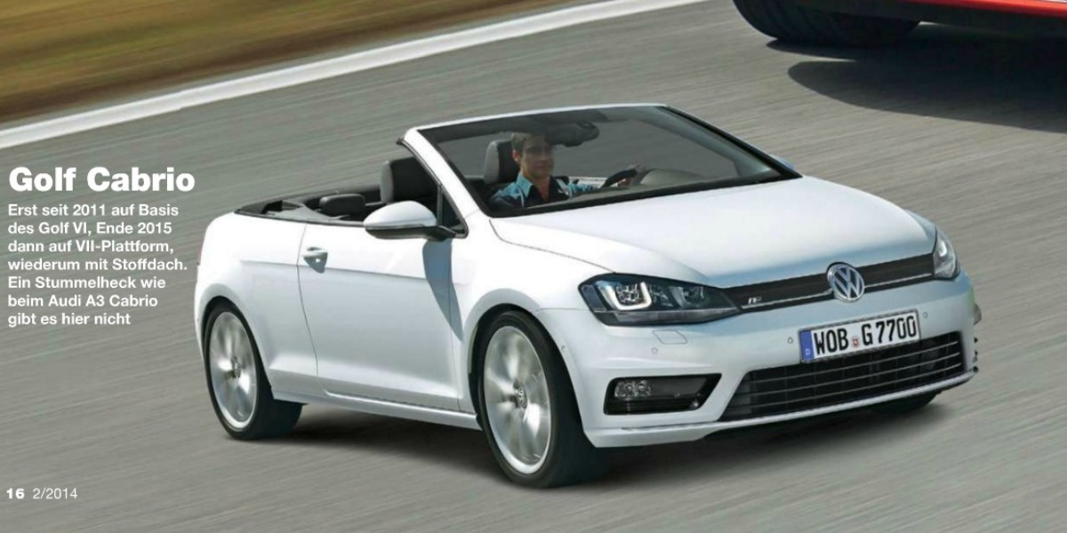 2014 volkswagen golf vii cabriolet mk7. Black Bedroom Furniture Sets. Home Design Ideas