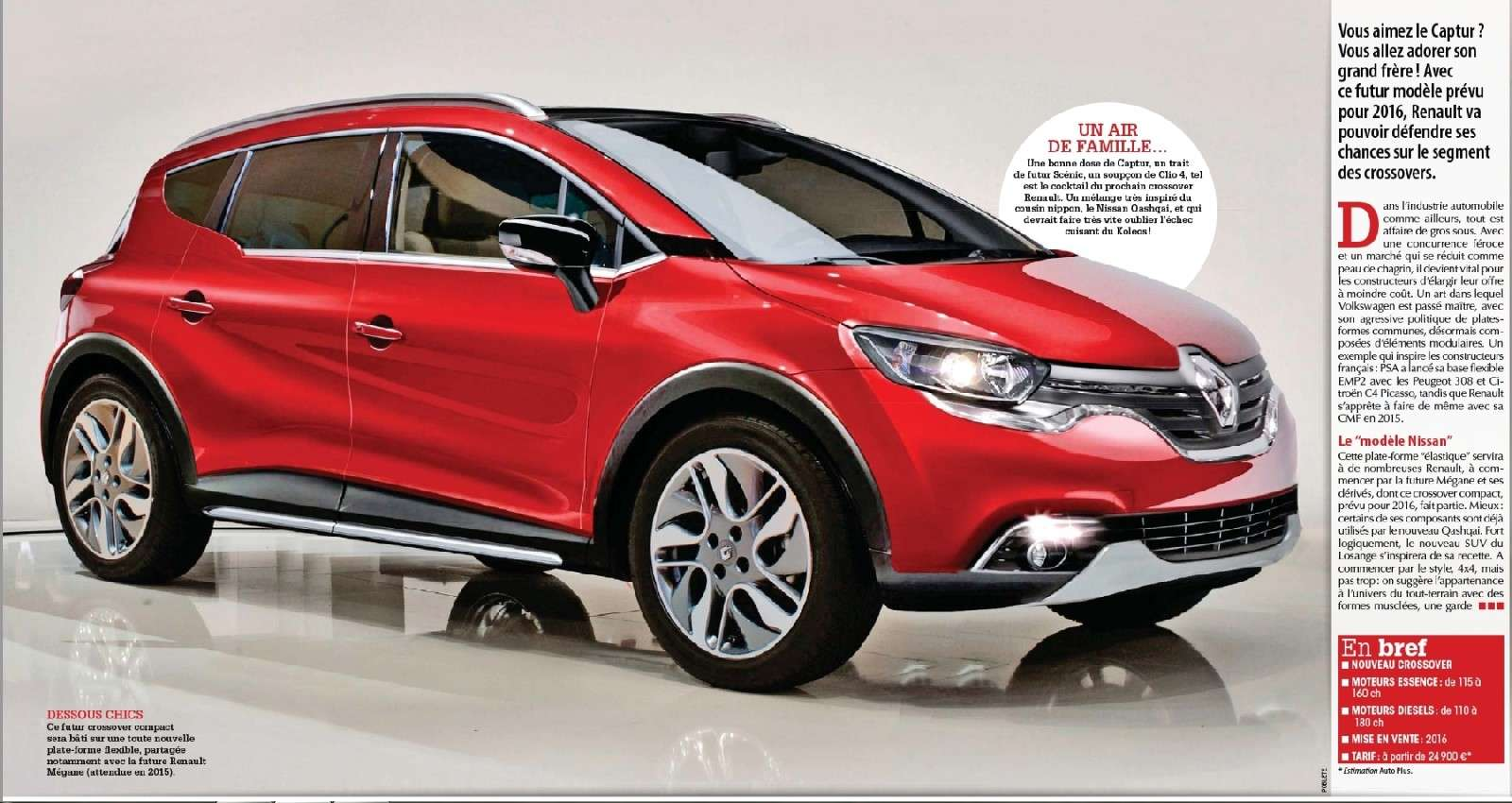 the motoring world the all new crossover from renault the kadjar a qashqai sized suv to. Black Bedroom Furniture Sets. Home Design Ideas