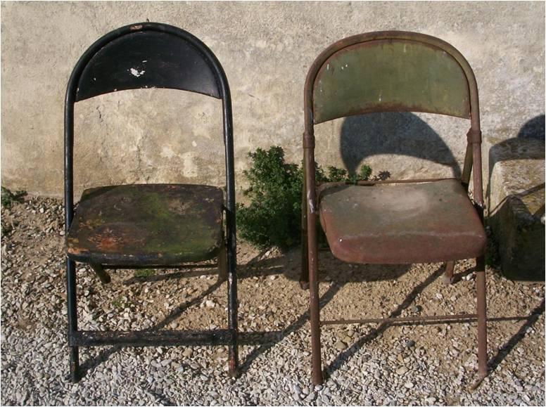 7 chaises us pliantes for Chaise us ww2