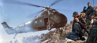 L'HELICOPTERE fut également en Agérie...