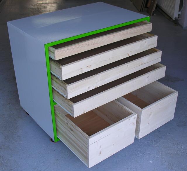Meuble atelier utiliser des chutes pour r aliser un for Meuble a tiroir pour atelier