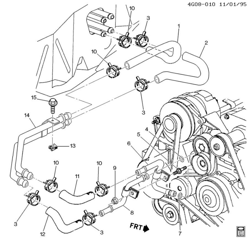 chevy v6 3800 coolant flow diagram