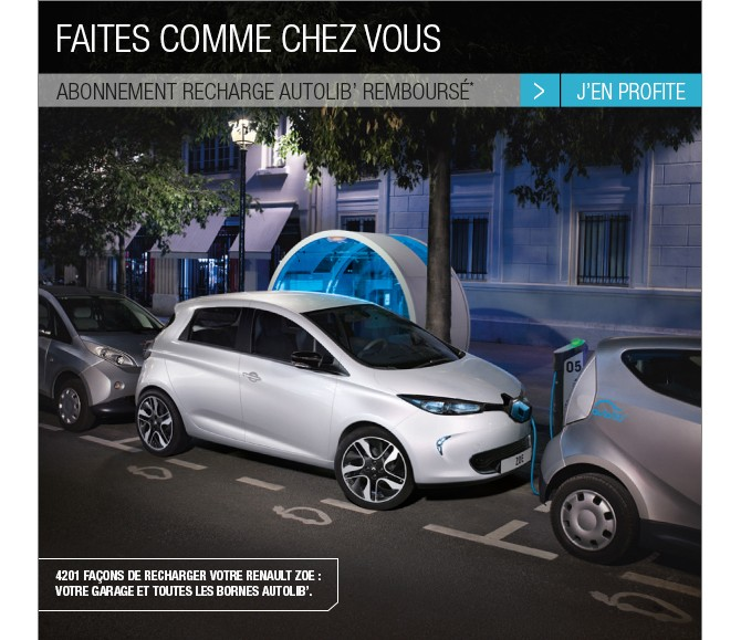 renault offre l 39 abonnement pour les 4200 bornes de recharge autolib 39. Black Bedroom Furniture Sets. Home Design Ideas