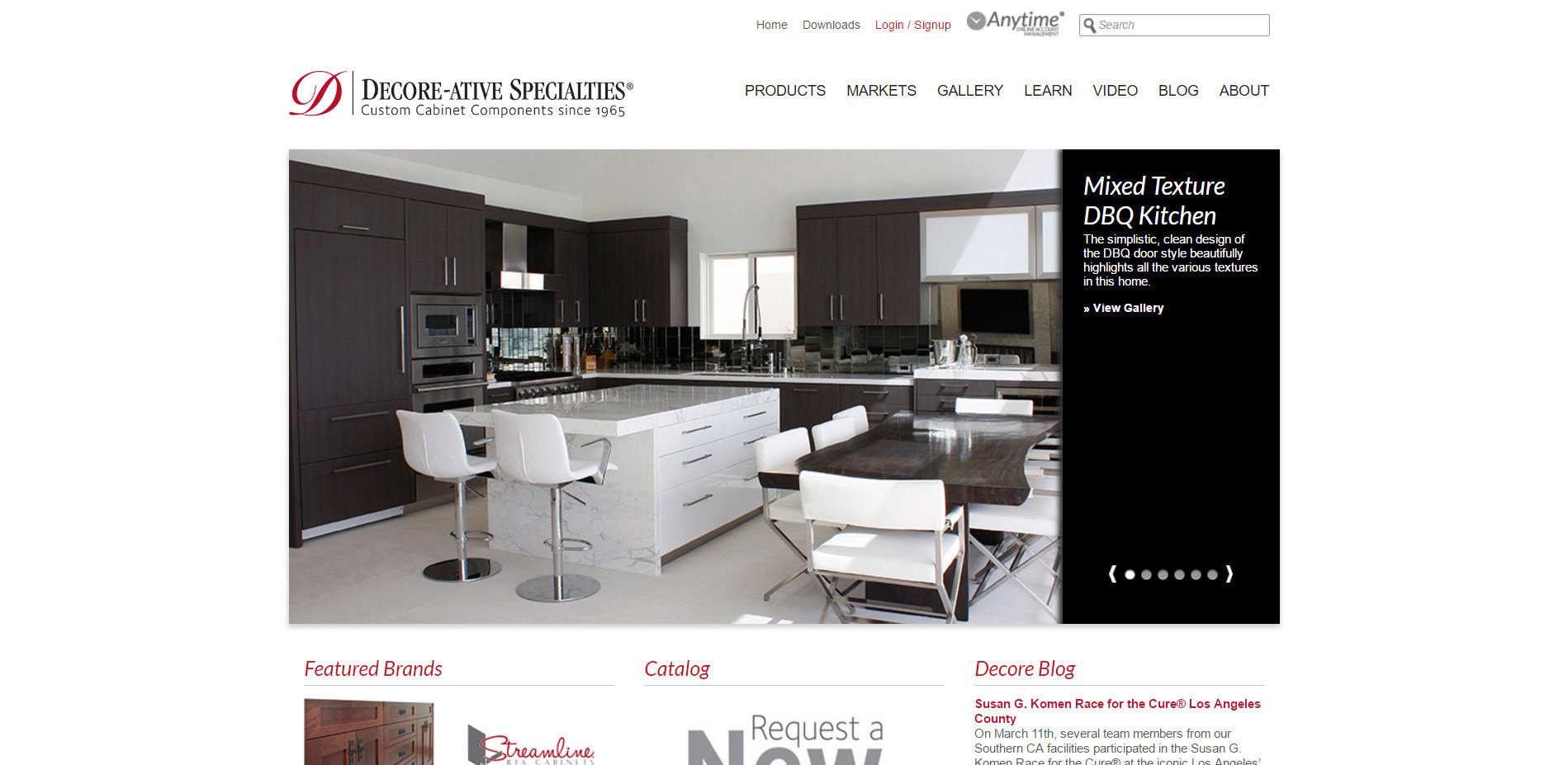 Уеб сайт на Decore