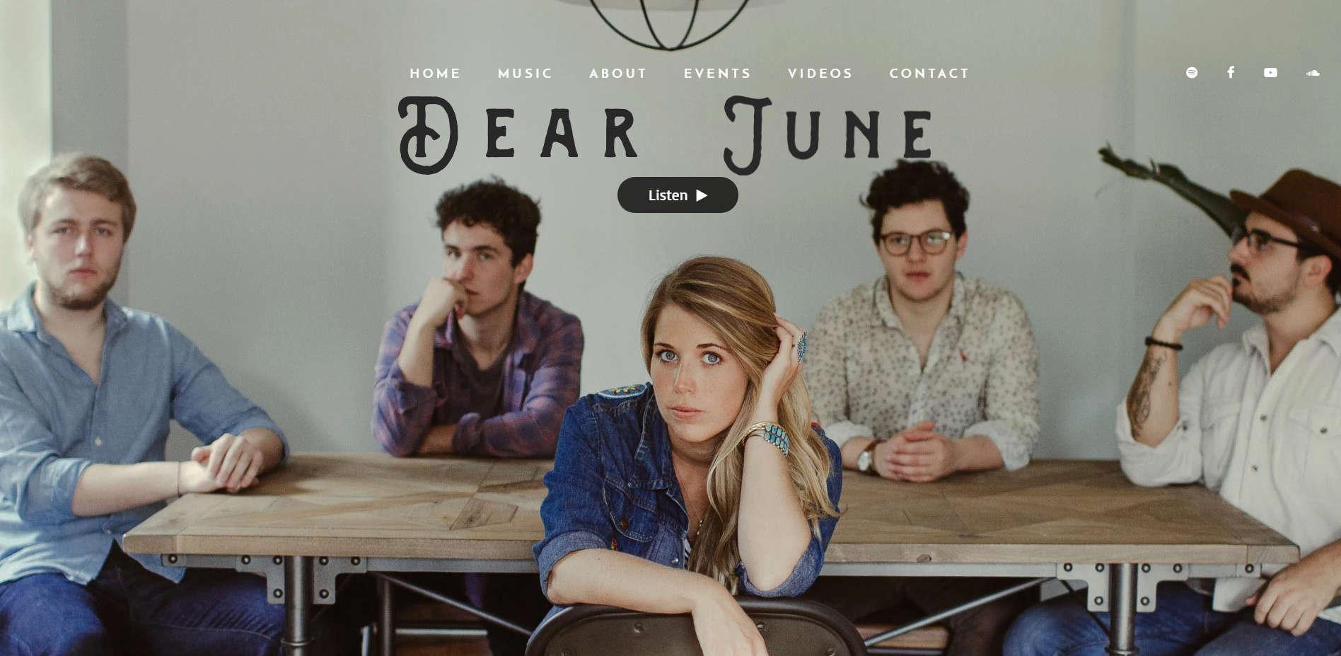 Уеб сайт на Dear june