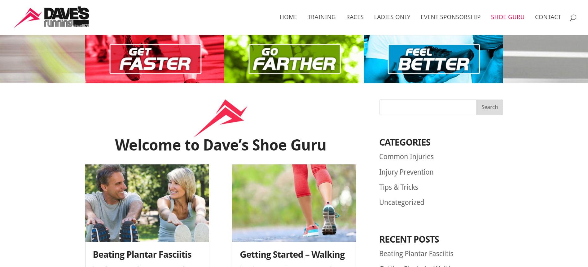 Уеб сайт на Shoe guru