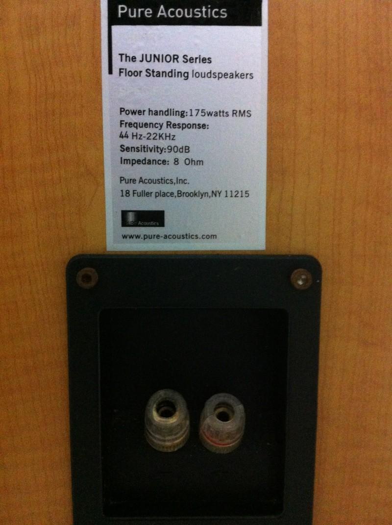 Pure Acoustics Junior F Floor Standing Speaker