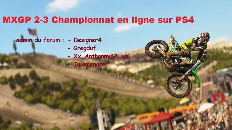 MXGP 2-3 Championnat en ligne sur PS4