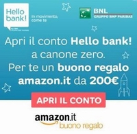 HELLO BANK BUONO AMAZON 150