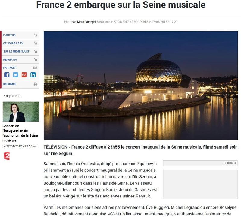 Concerts et spectacles la seine musicale de l 39 le seguin - Programme la seine musicale ...