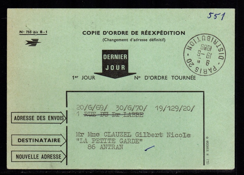 Copie d 39 ordre de r exp dition du courrier for Reexpedition du courrier temporaire