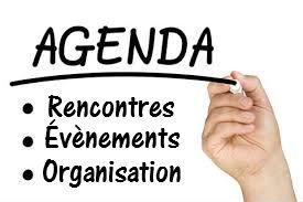 """Agenda des """"évenements & rencontres"""""""