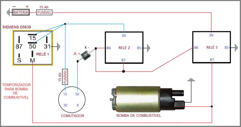 Temporizador para bomba de combust vel feito com rel - Como ligar para o santander do exterior ...
