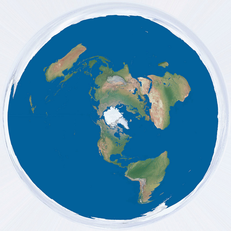 Flat Earth Maps Page - Map earth