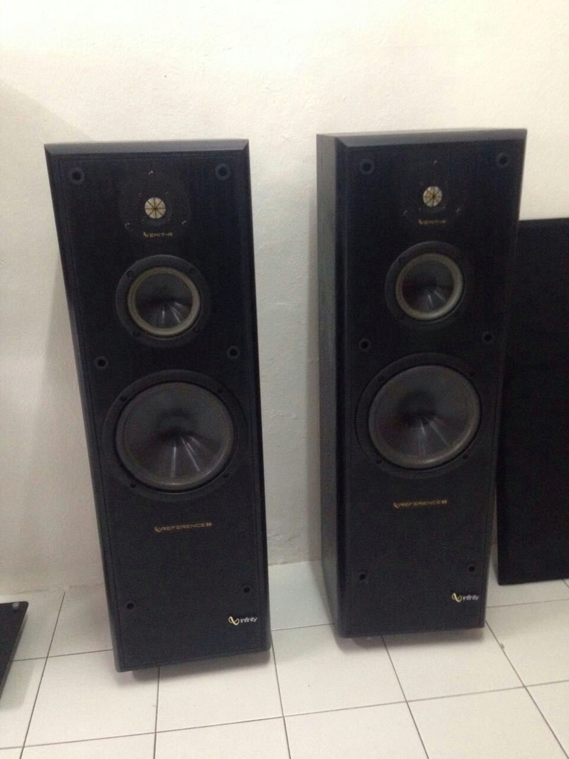 Infinity Reference 50 3 Way Floor Standing Speakers Used