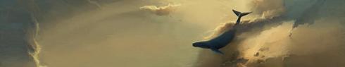 Perdue, au milieu d'un océan de nuages, écoutant doucement le chant des baleine avec mélancolie...