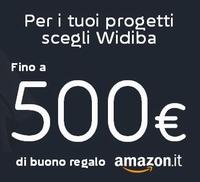 WIDIBA regala BUONO AMAZON FINO A € 500